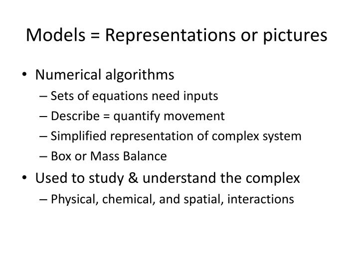 Models = Representations or pictures