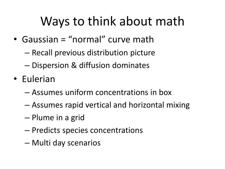 Ways to think about math