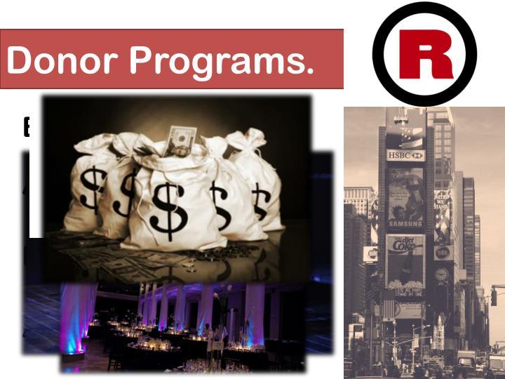 Donor Programs.