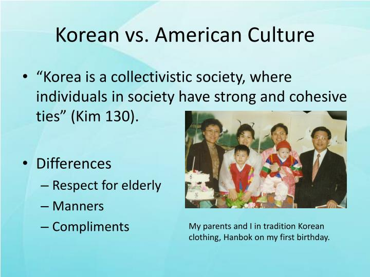korean american culture inquiry Bill bryson - american the chinese do not agree and don't like the idea of koreans trying to steal their culture with north korea, south korea is still at war.