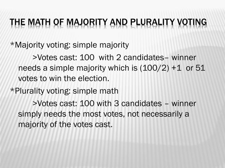 *Majority voting: simple majority