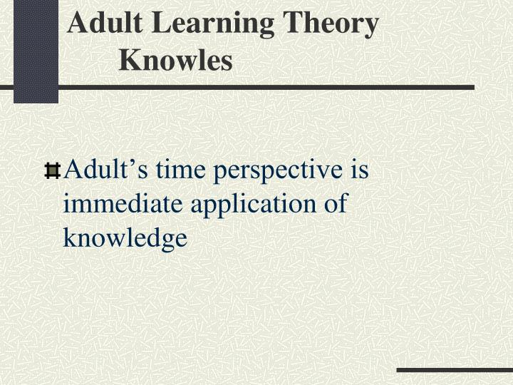 Adult Learning Theory