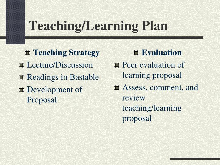 Teaching Strategy