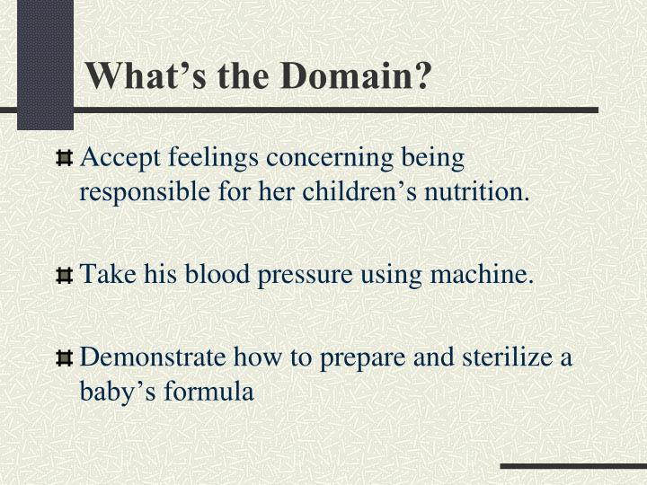 What's the Domain?