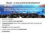 busan a new world of development