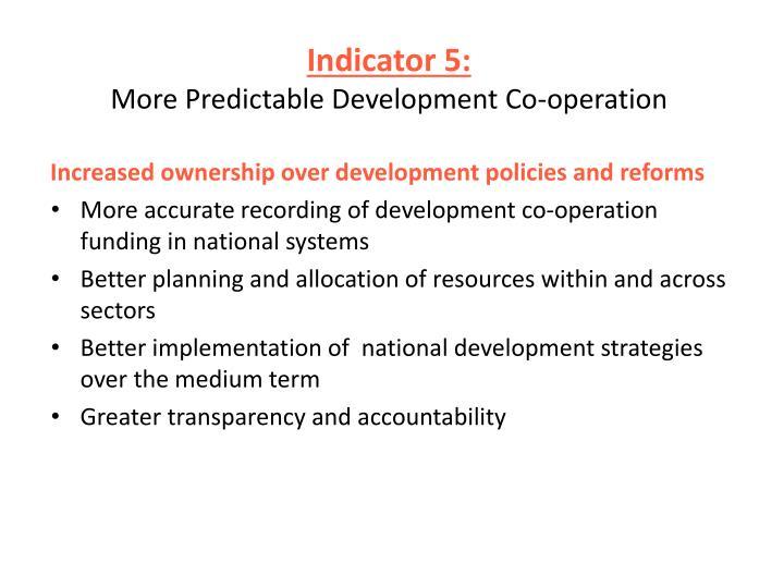 Indicator 5: