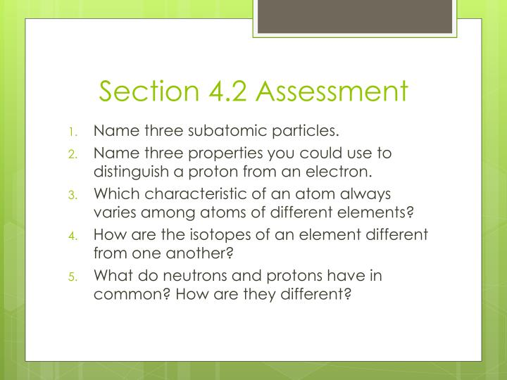 Section 4.2 Assessment