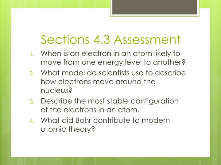 Sections 4.3 Assessment
