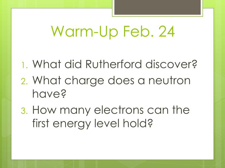 Warm-Up Feb. 24