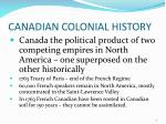 canadian colonial history