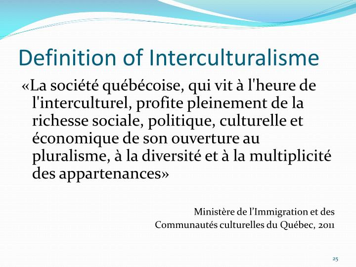 Definition of Interculturalisme