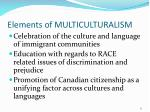 elements of multiculturalism