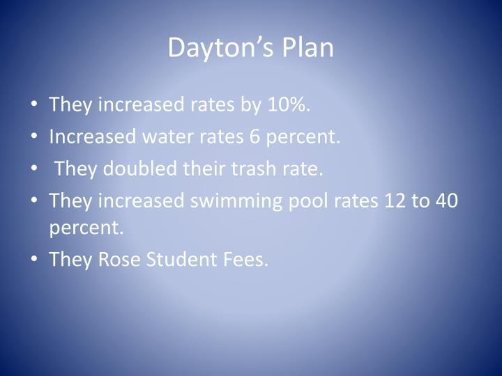 Dayton's Plan