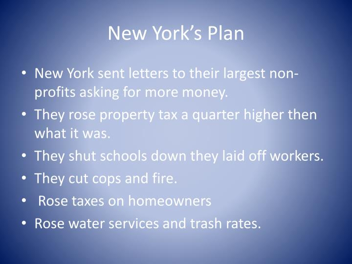 New york s plan