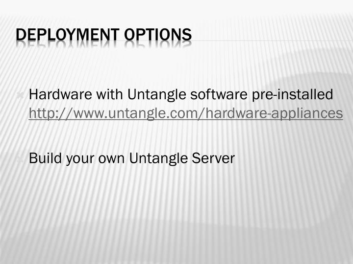 Hardware with Untangle software pre-installed