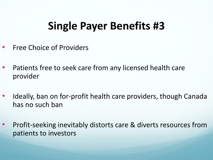 Single Payer Benefits #3