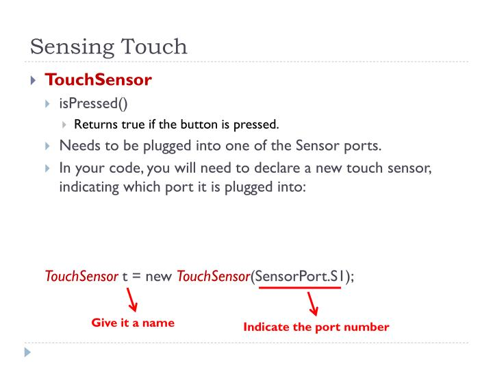 Sensing Touch