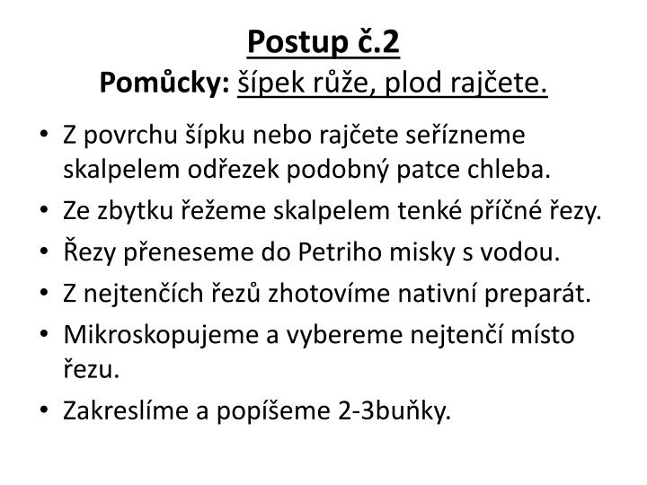 Postup č.2