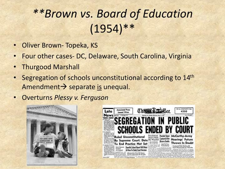 **Brown vs. Board of Education