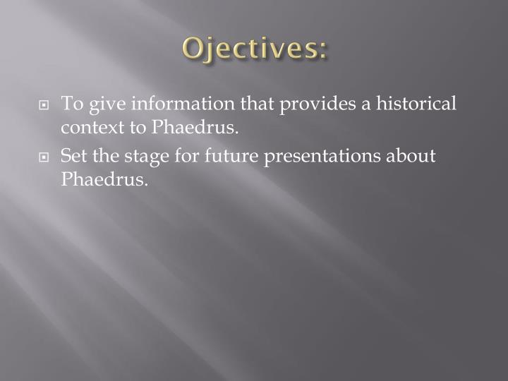 Ojectives