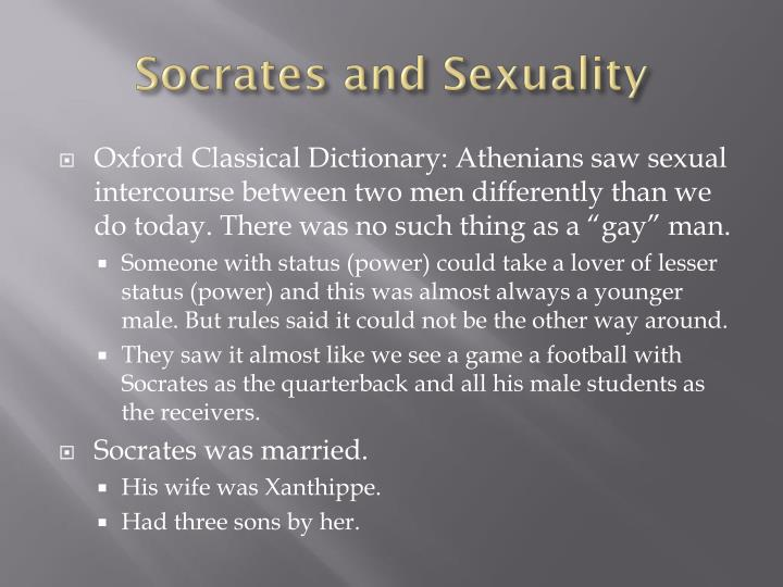 Socrates and Sexuality