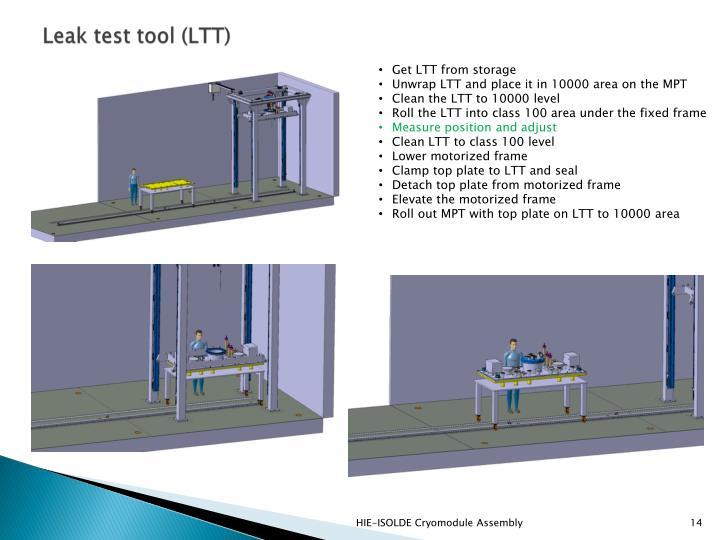 Leak test tool