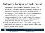 gateways background and context