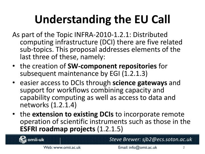Understanding the EU Call