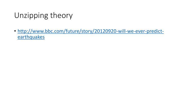 Unzipping theory
