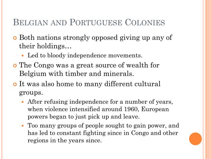 Belgian and Portuguese Colonies