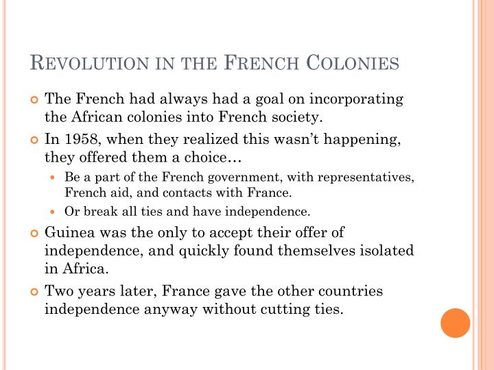 Revolution in the French Colonies