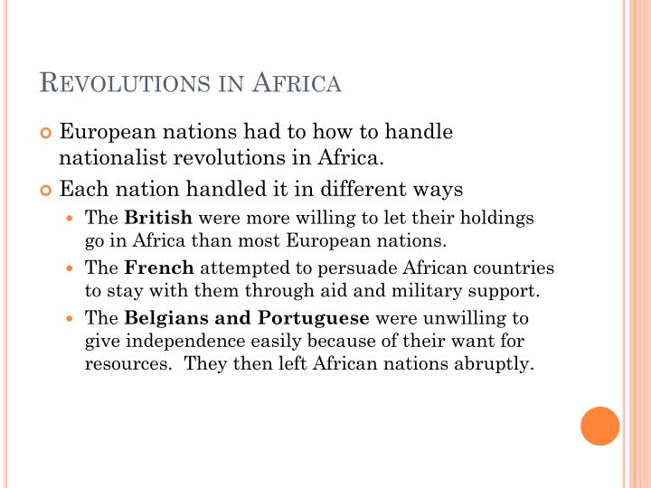 Revolutions in Africa