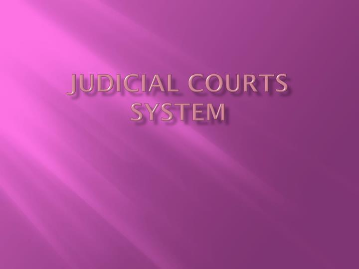judicial courts system