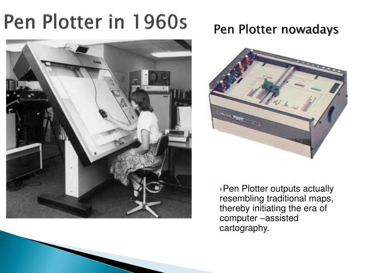 Pen Plotter in 1960s