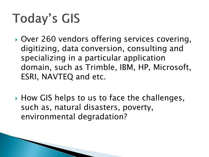 Today's GIS