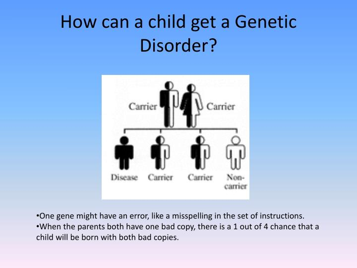 How can a child get a Genetic Disorder?