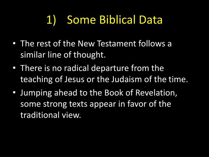1)Some Biblical Data