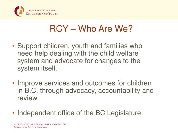 RCY – Who Are We?
