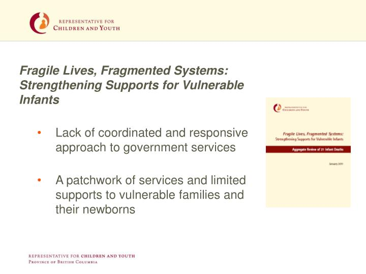 Fragile Lives, Fragmented Systems: Strengthening Supports for Vulnerable Infants