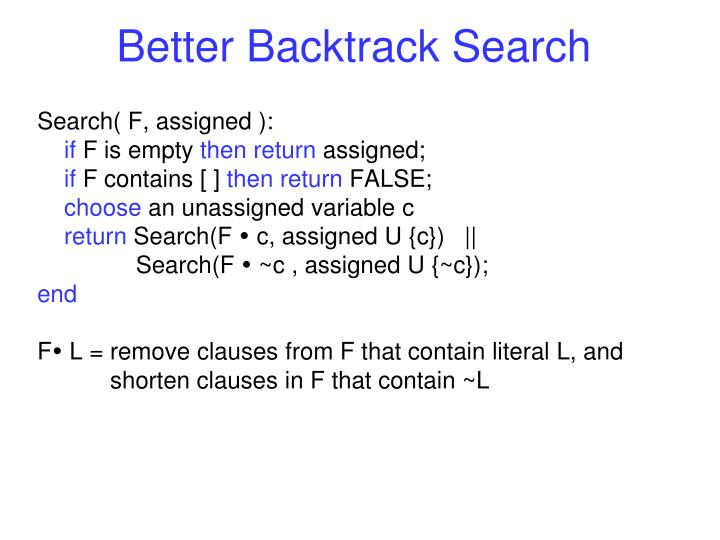 Better Backtrack Search