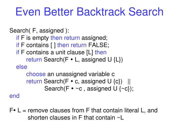 Even Better Backtrack Search