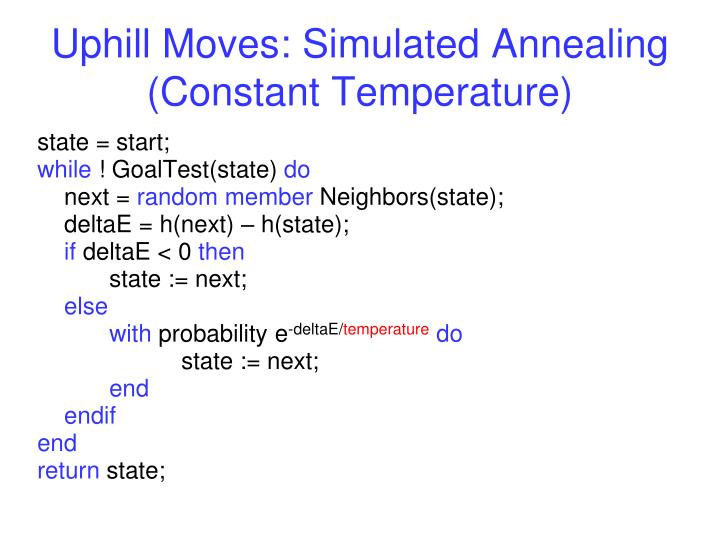 Uphill Moves: Simulated Annealing (Constant Temperature)