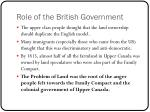 role of the british government
