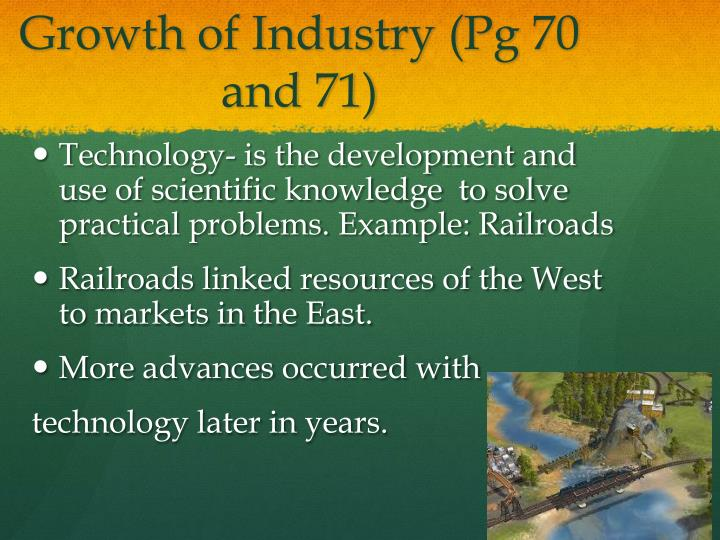 Growth of Industry (