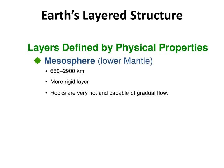 Layers Defined by Physical Properties