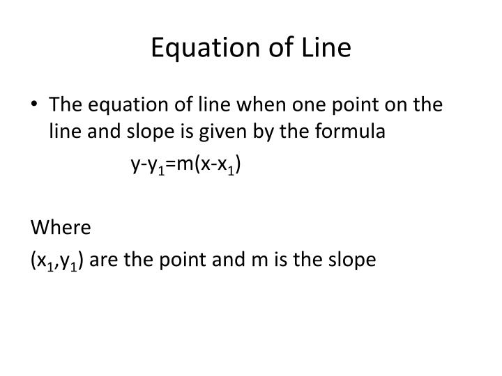 Equation of Line