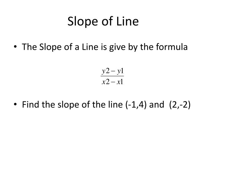 Slope of line