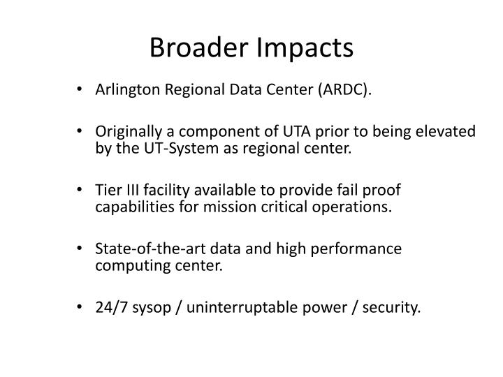 Broader Impacts