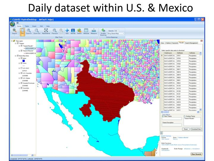 Daily dataset within U.S. & Mexico