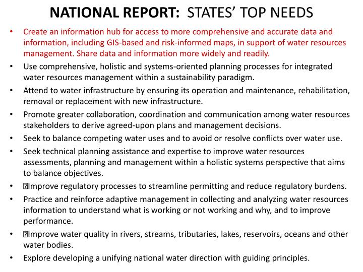 NATIONAL REPORT:
